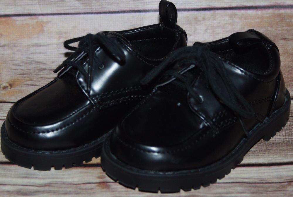 Koala Kids Size 4 Toddler Boys Black Dress Casual Shoes Holiday