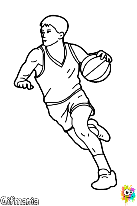 Center Coloring Page Basketball Drawings Drawings Coloring Pages