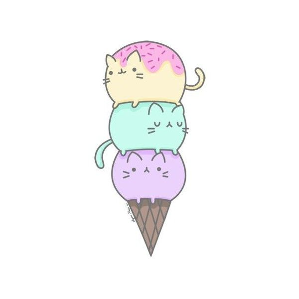 Cute Ice Cream Wallpaper 53 Images: Tumblr Transparents Liked On Polyvore Featuring Filler And