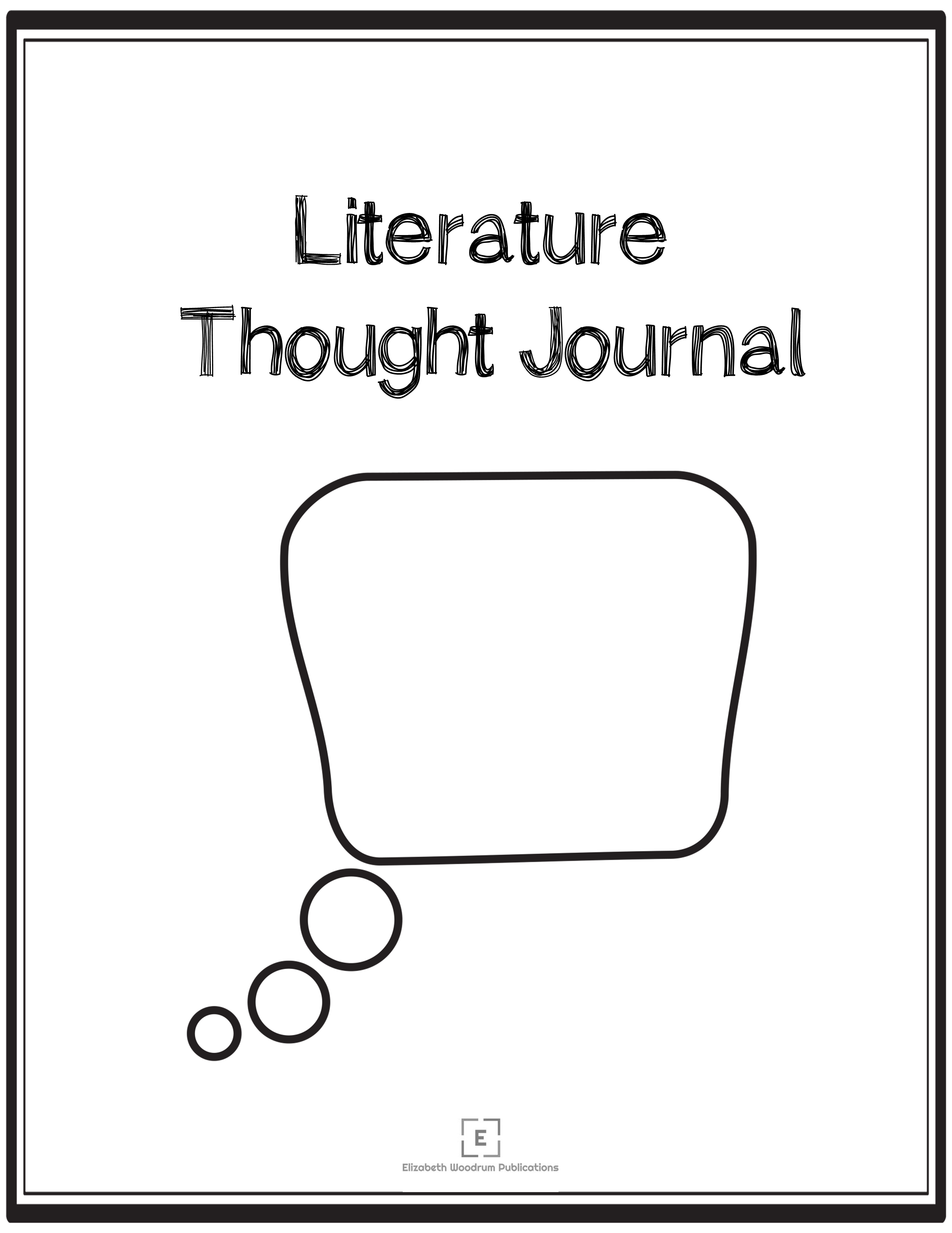 Literature Thought Journal from Elizabeth Woodrum