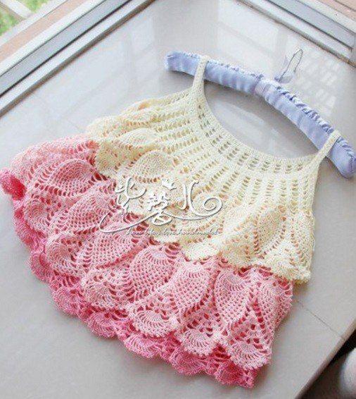 50 Patrones Veraniegos a crochet #vestidosparabebédeganchillo