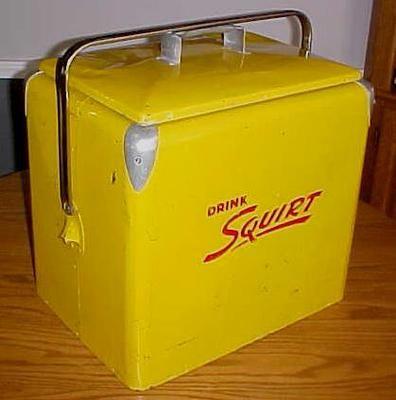 Vintage 1950's Progress Refrigerator Co Squirt Metal Cooler