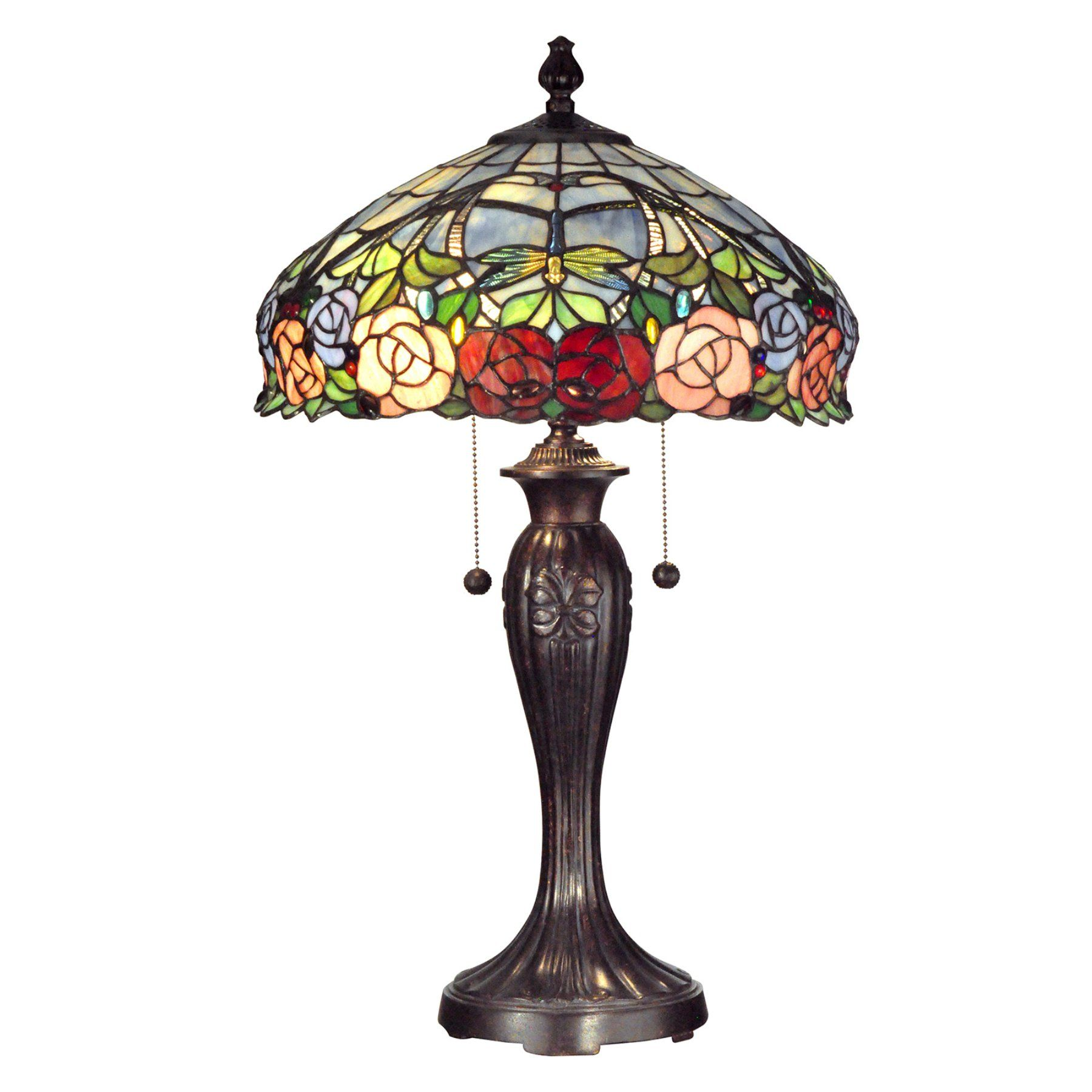 Dale tiffany floor lamps foter - 16 Antique Bronze Rose Dome Hand Painted Art Glass Table Lamp From The Dale Tiffany Collection This Lamp Is The Perfect Choice For Any Room Or Sp