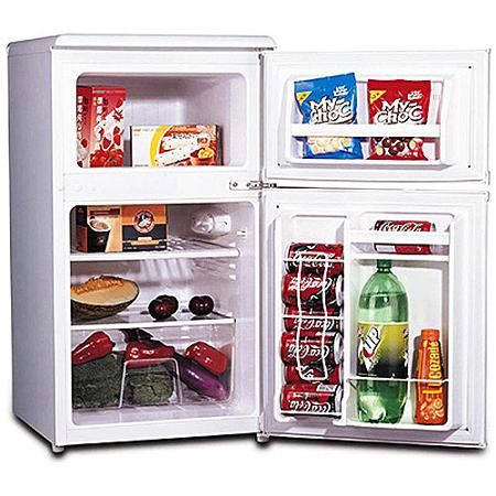 Igloo 3 2 Cu Ft 2 Door Refrigerator And Freezer Walmart Com Mini Fridge With Freezer Mini Fridge Small Fridge Freezer