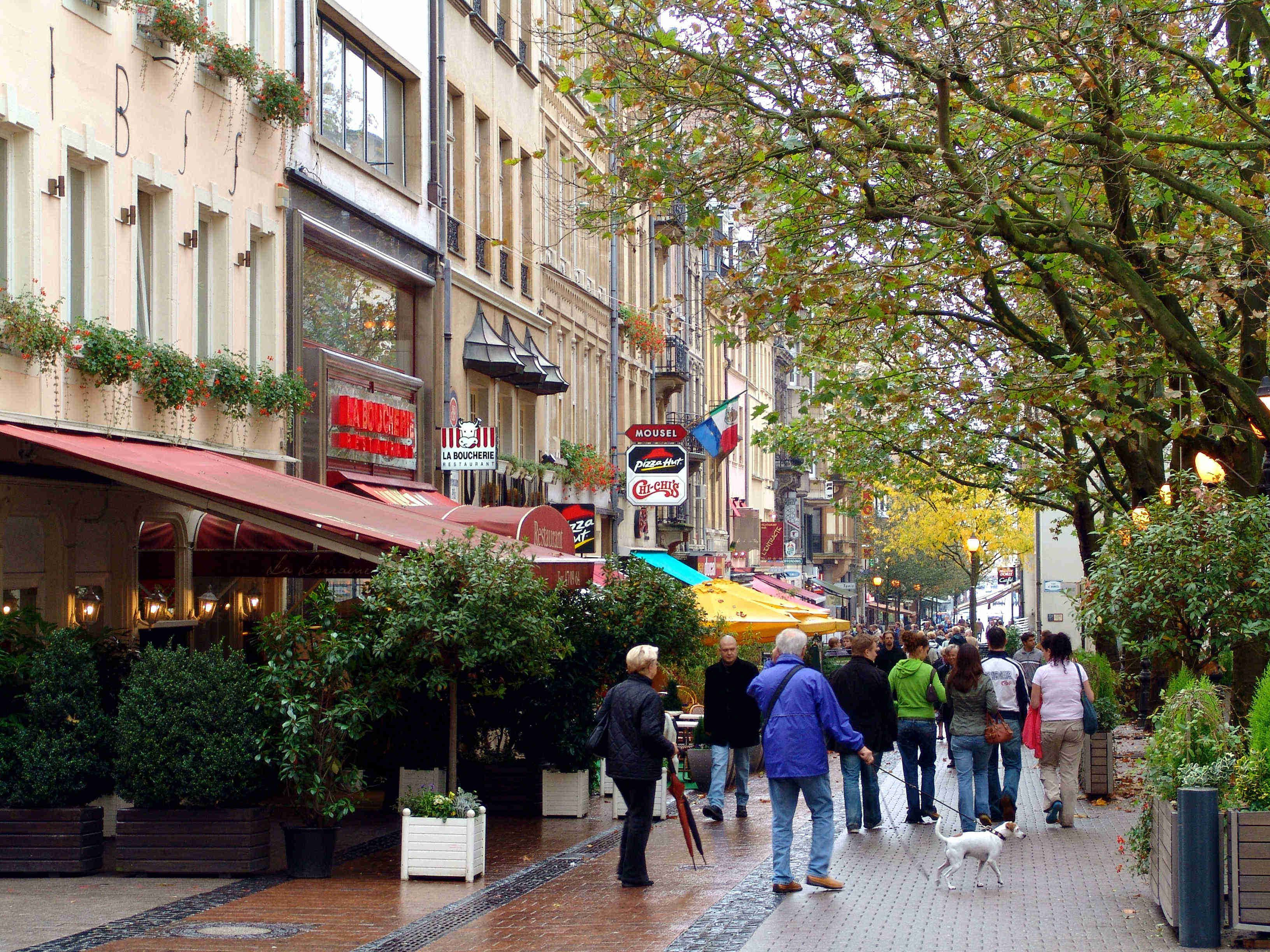 A street in Luxembourg City Luxembourg city, Luxembourg