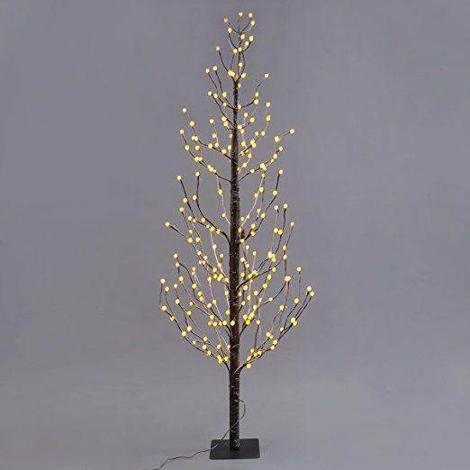 leuchtbaum 1 8m 216er led baum bereifte kugelbaum lichterbaum dekobaum f r halloween hochzeit. Black Bedroom Furniture Sets. Home Design Ideas