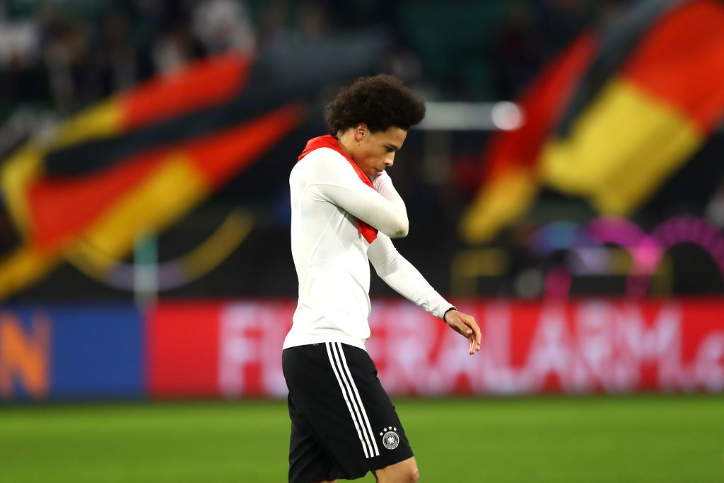 Leroy Sane Of Germany Looks Dejected Following His Team S Draw In The Leroy Sane Manchester City Football Club Germany