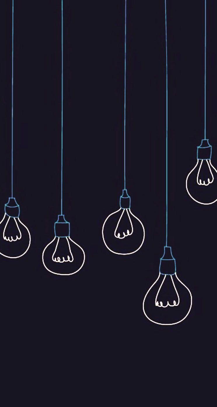 November iphone wallpaper tumblr - Light Bulbs Minimalistic The Iphone Wallpapers
