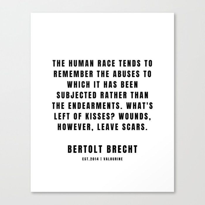 3 | Bertolt Brecht Quotes| 201223| Famous Quote Writer Literature German Poet Poem Philosophy| Author Of Life Of Galileo Canvas Print by Quotes And Sayings
