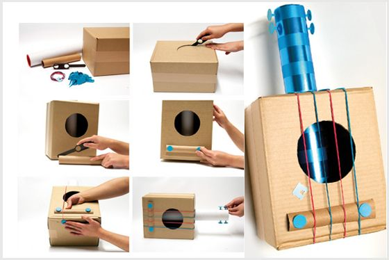 Resultado de imagen de instrumento de cuerda casero for Guitarras para ninos casa amarilla