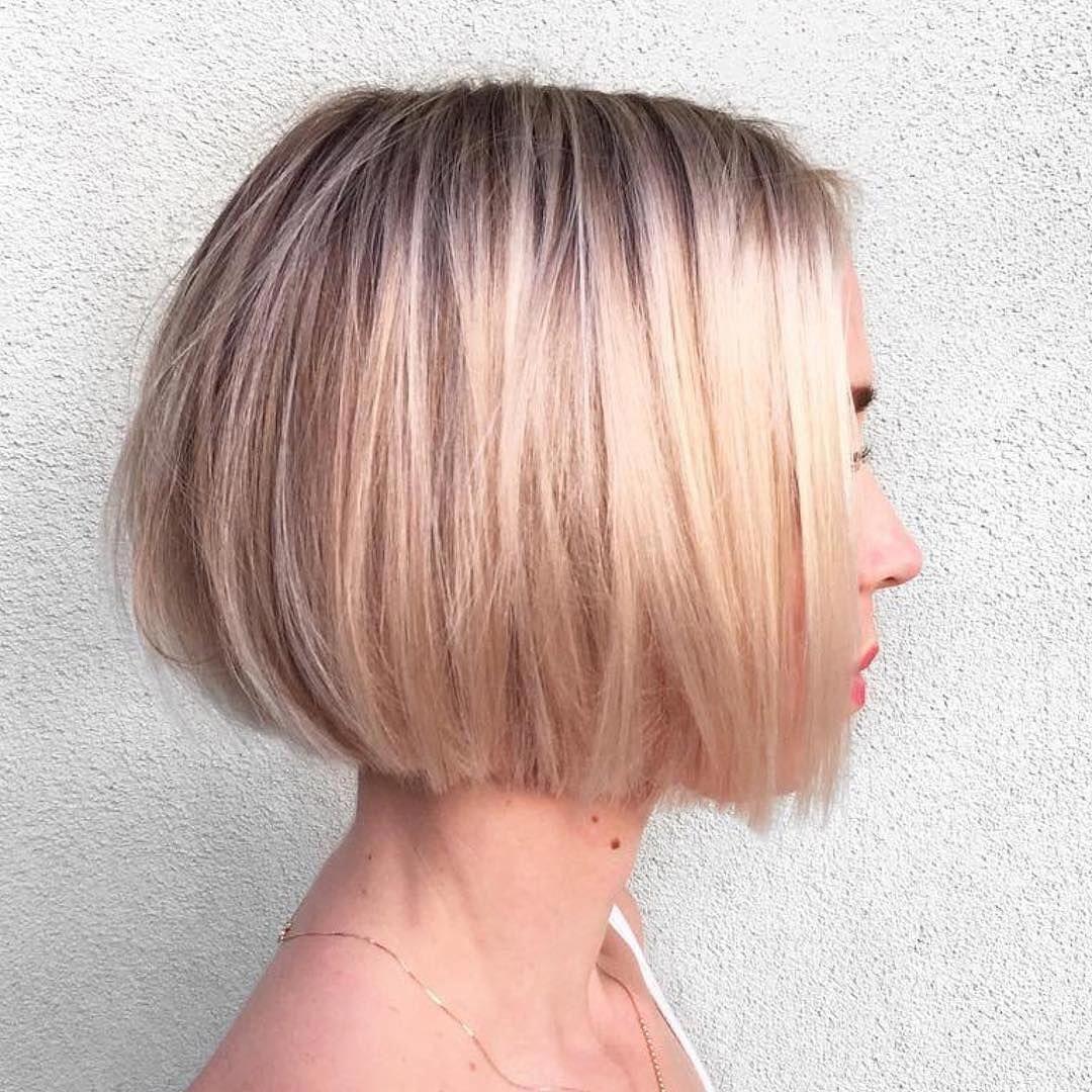 Easy Short Bob Hairstyles For Summer Women Short Haircut Shorthaircutstyles Hair Styles Bob Hairstyles Bob Haircut For Fine Hair