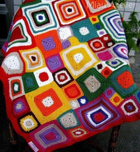 Manta Babette em crochet