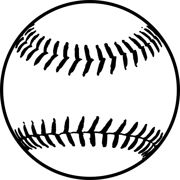 Softball white. Free clipart download images