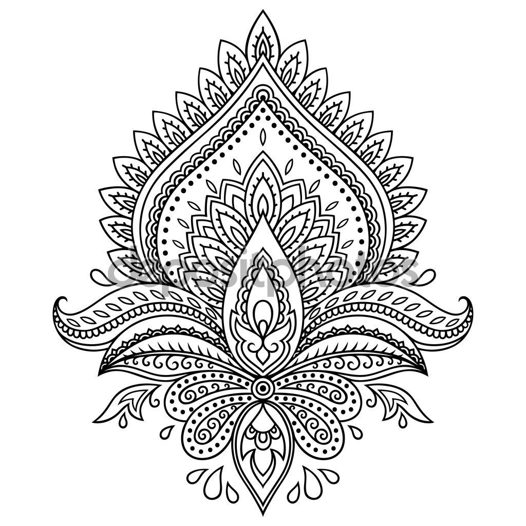 Image result for henna lotus drawing Henna drawings