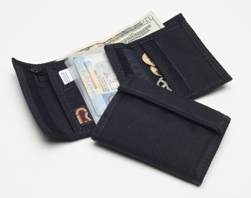 e5ef2a8336 Black Bifold Velcro Wallet with Inside Velcro Pocket by Rainbow of ...