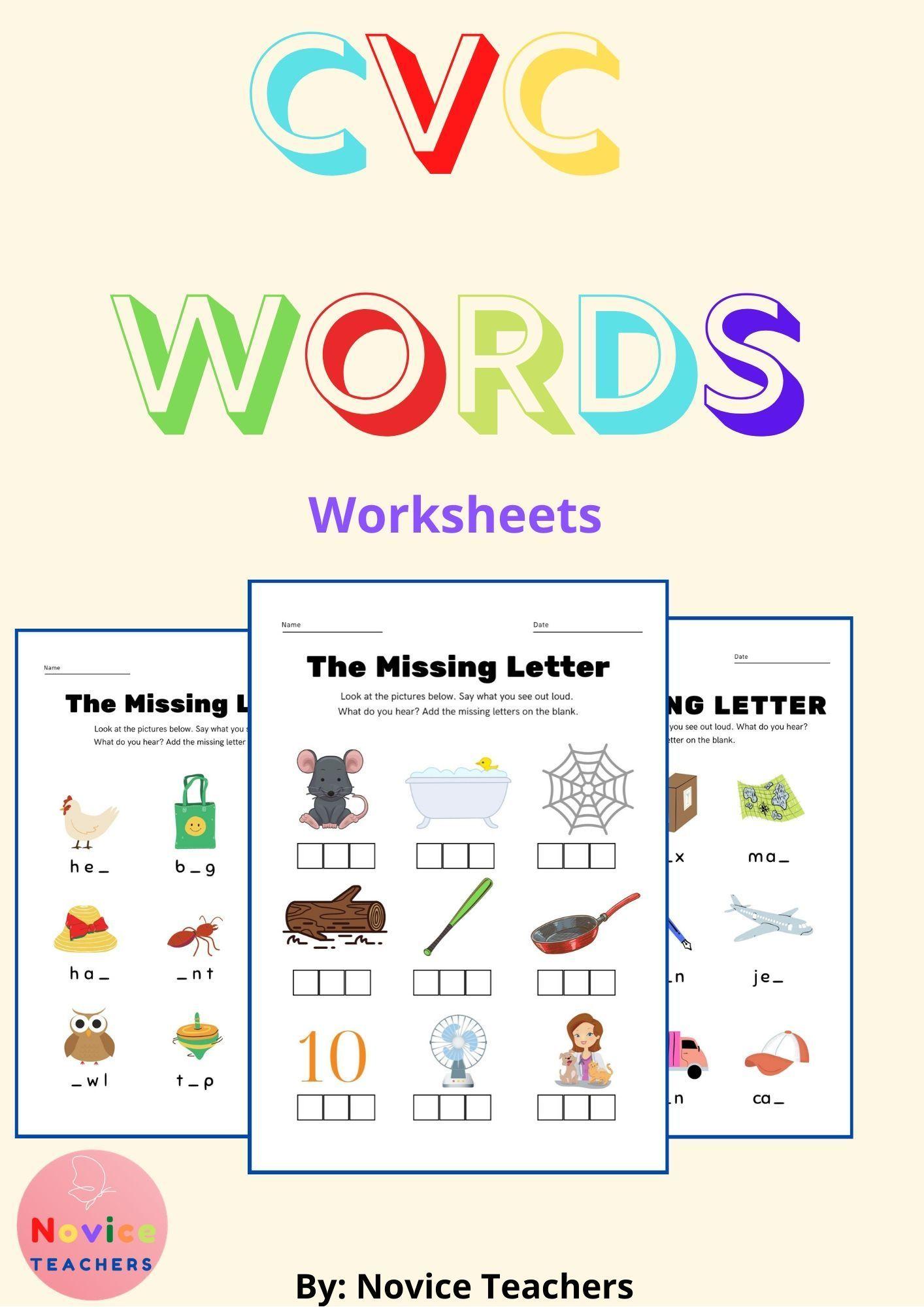 Free Cvc Words Worksheets Cvc Words Cvc Words Worksheets Phonics Printables [ 2000 x 1414 Pixel ]