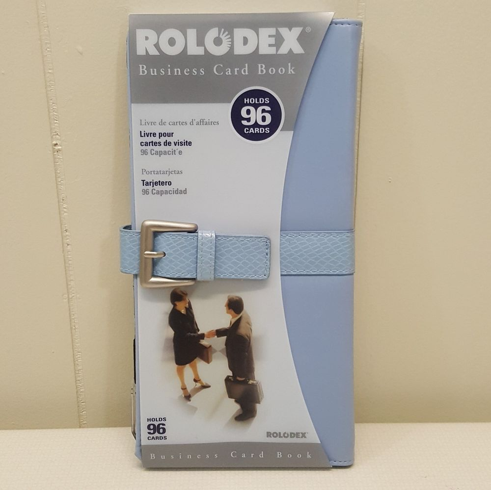 Rolodex business card book blue 96 cards holder organization rolodex business card book blue 96 cards holder organization career office pen magicingreecefo Image collections