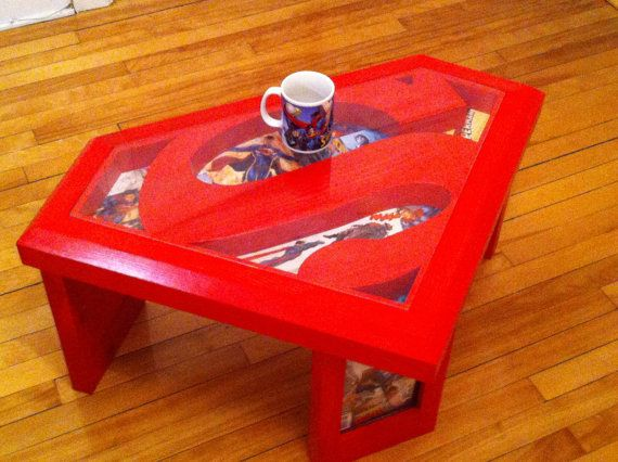 Superman Coffee Table With Gl Top