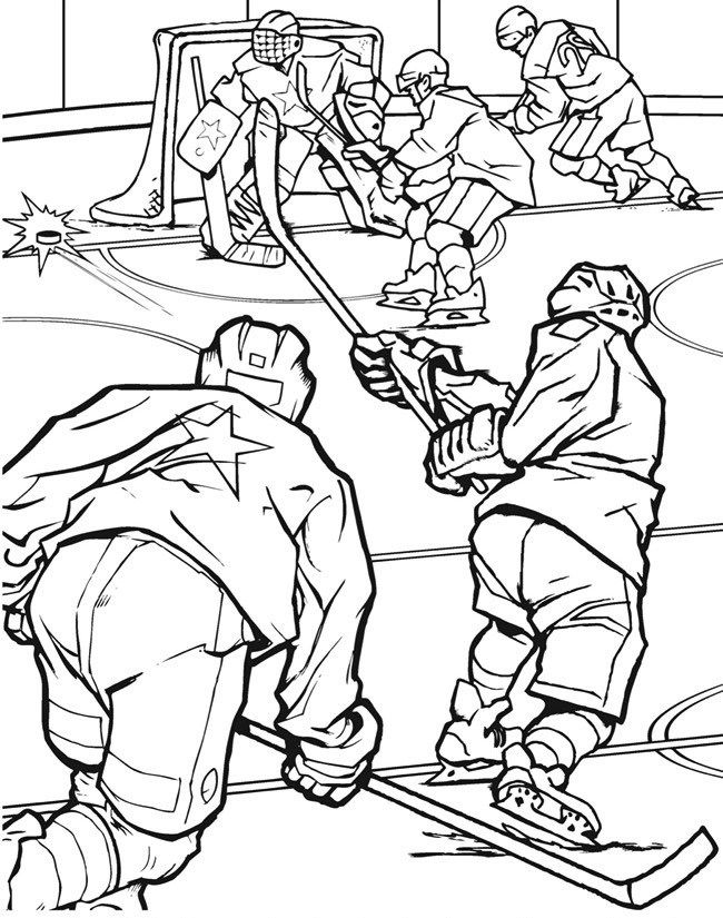 hockey team match in field hockey coloring page | sport coloring ...