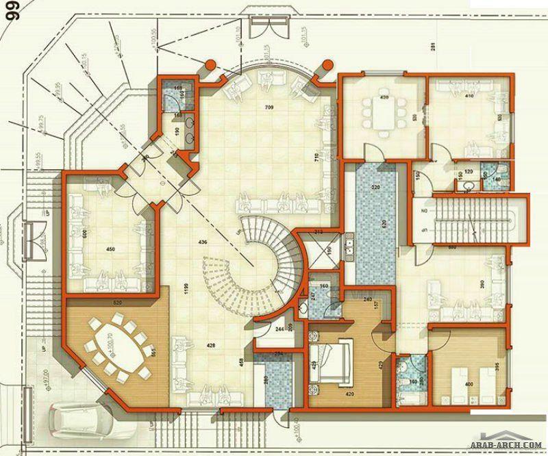 مخطط فيلا سكنية وسقة السعودية ابها من اعمال Architect Ammar Nasser Square House Plans Home Design Floor Plans My House Plans