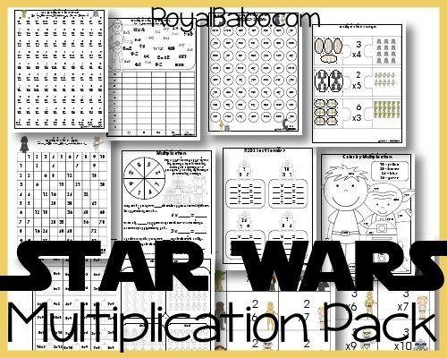Free Star Wars Multiplication Printables