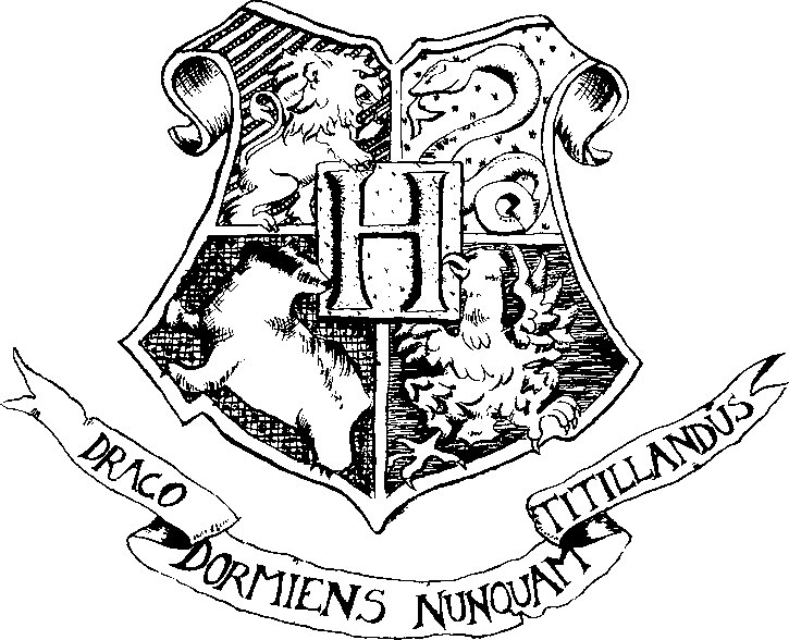 Hogwarts Crest Clipart Graphic--in GIMP Photo Editor, Use