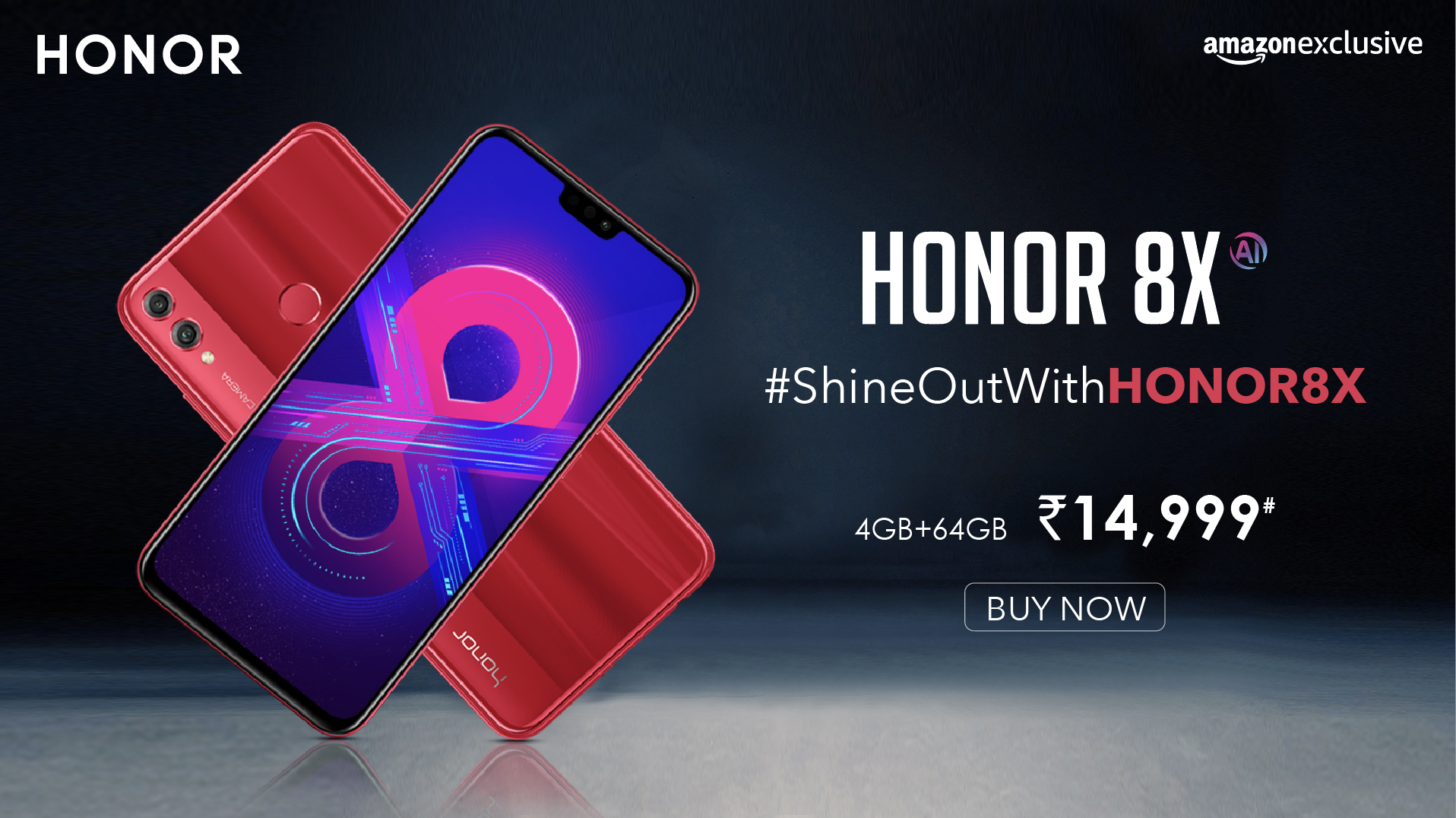 Honor 8X Red Phone Banner Concept | Creatives Hub | Discount