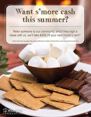 summer resident referral flyer