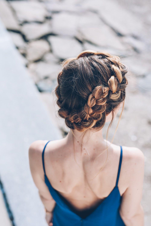 Black Tie Hairstyle Crown Braid By Jenniekaybeauty Crown Braid