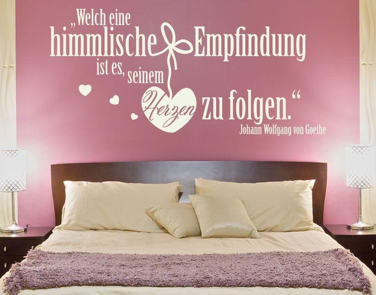 Himmlische Empfindung - wandtattoos schlafzimmer sprüche