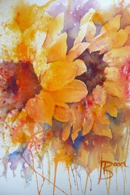 Pin On Art Watercolor Flowers 6