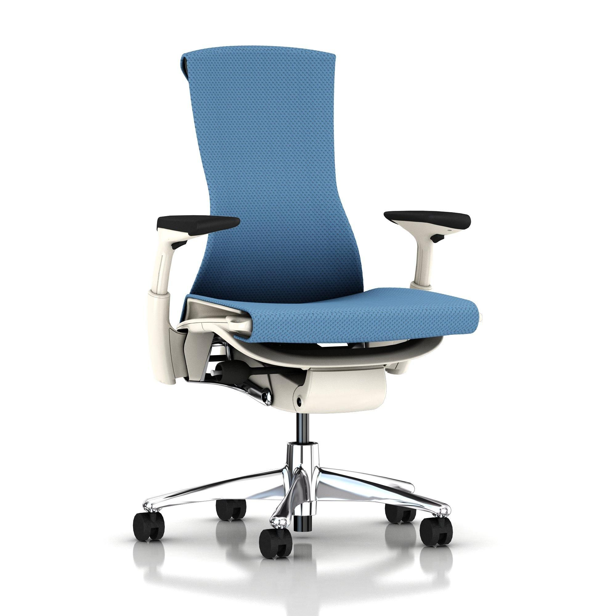 Herman Miller Embody Chair Blue Moon Balance With White Frame And