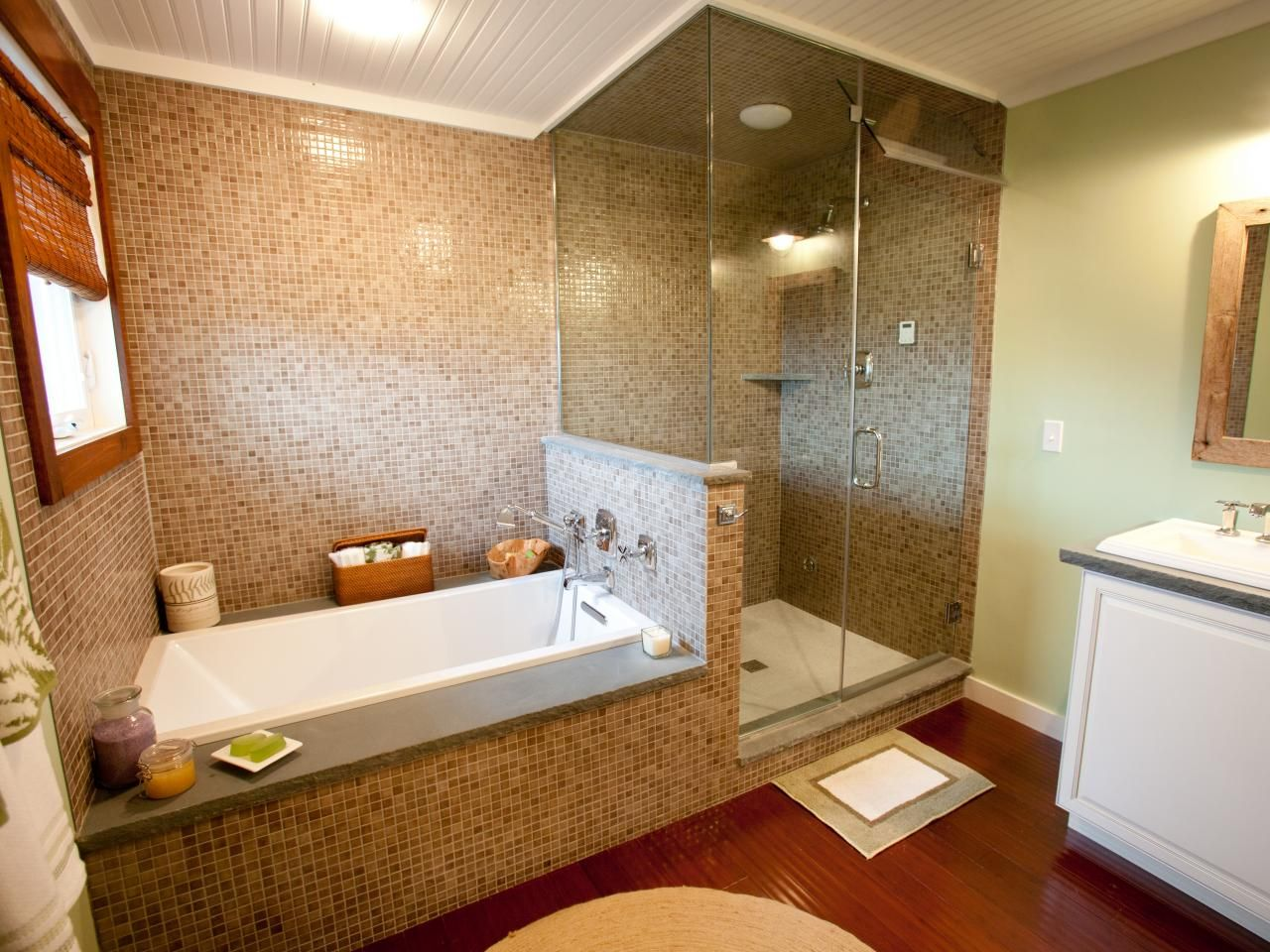 The 50 X 50 Frameless Glass Enclosed Shower Features A White