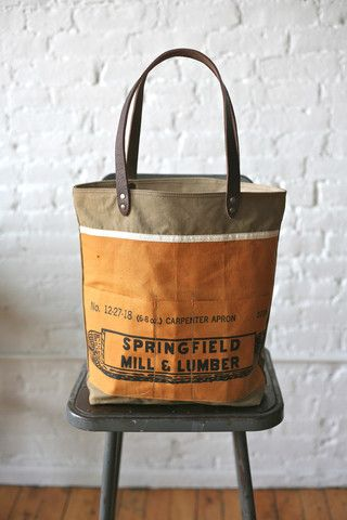4bfc5a679990 WWII-era canvas and work apron tote bag  ForestBound.