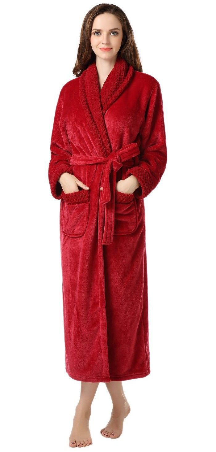 Richie house womens plush soft warm fleece bathrobe robe rh1591 richie house womens plush soft warm fleece bathrobe robe rh1591 sciox Image collections