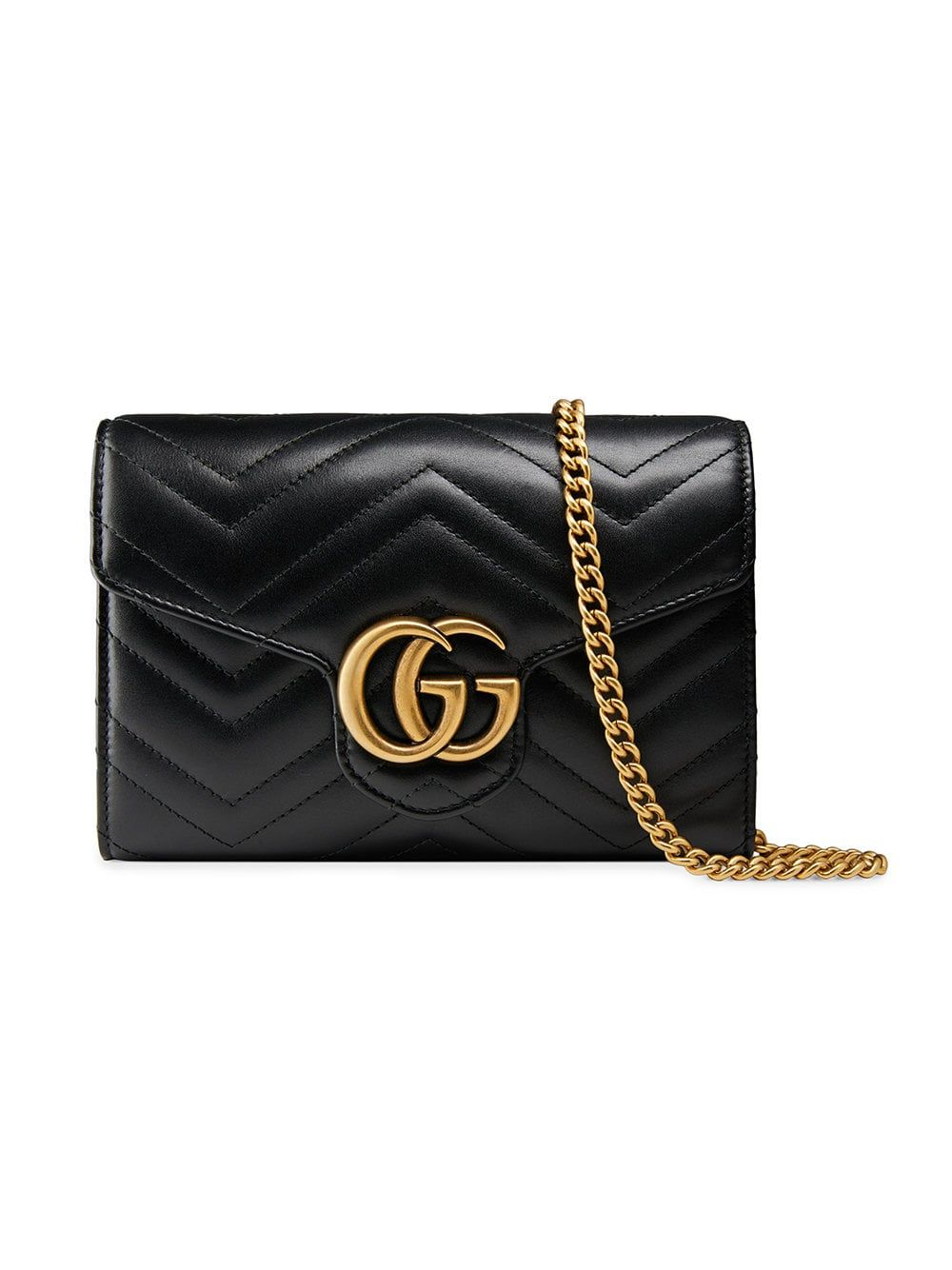 detailed look 7d542 2725e Gucci GGマーモント チェーンウォレット | レザーケース | Gucci ...