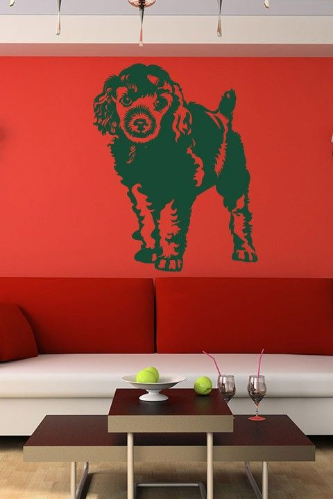 Adorable puppy wall sticker the innocuous look on the face of the endearing puppy lying