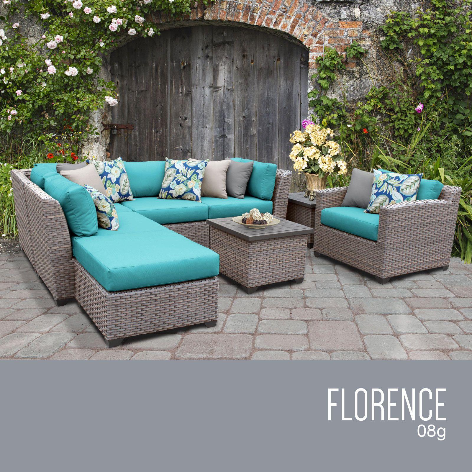 florence 8 piece outdoor wicker