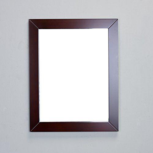 teak24 eviva evmr51424x30tk new york bathroom vanity mirror full frame teak 24 x 31 wall mount teakbrown gmbh ahaus