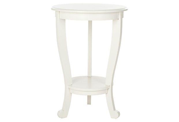 Wheaton Pedestal Side Table, White On OneKingsLane.com