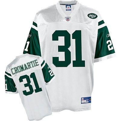 Cromartie Jersey, Reebok #31 New York Jets Authentic NFL Jersey in ...