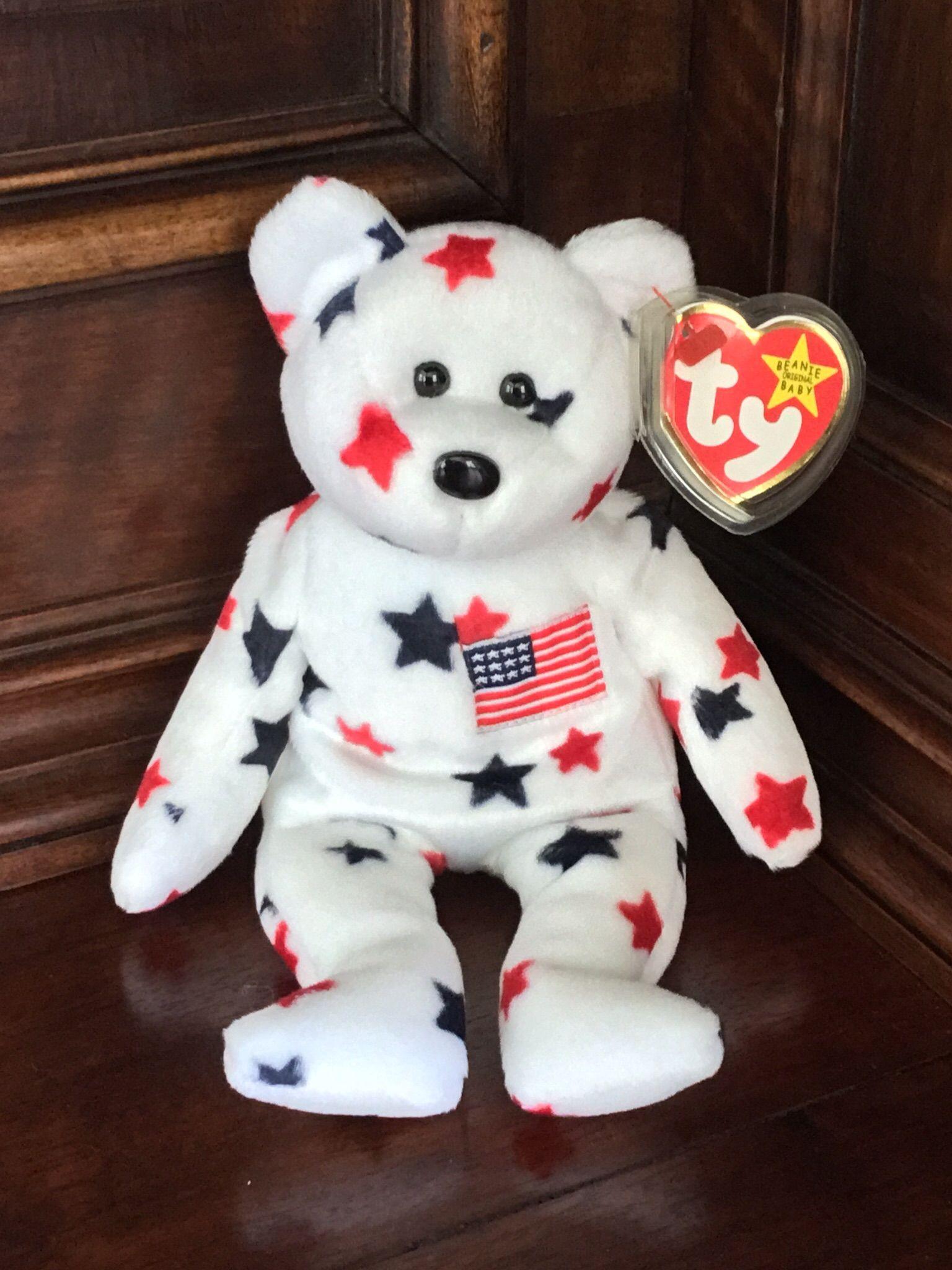 MWMT Patriotic Bear 1997 Ty Beanie Baby Glory