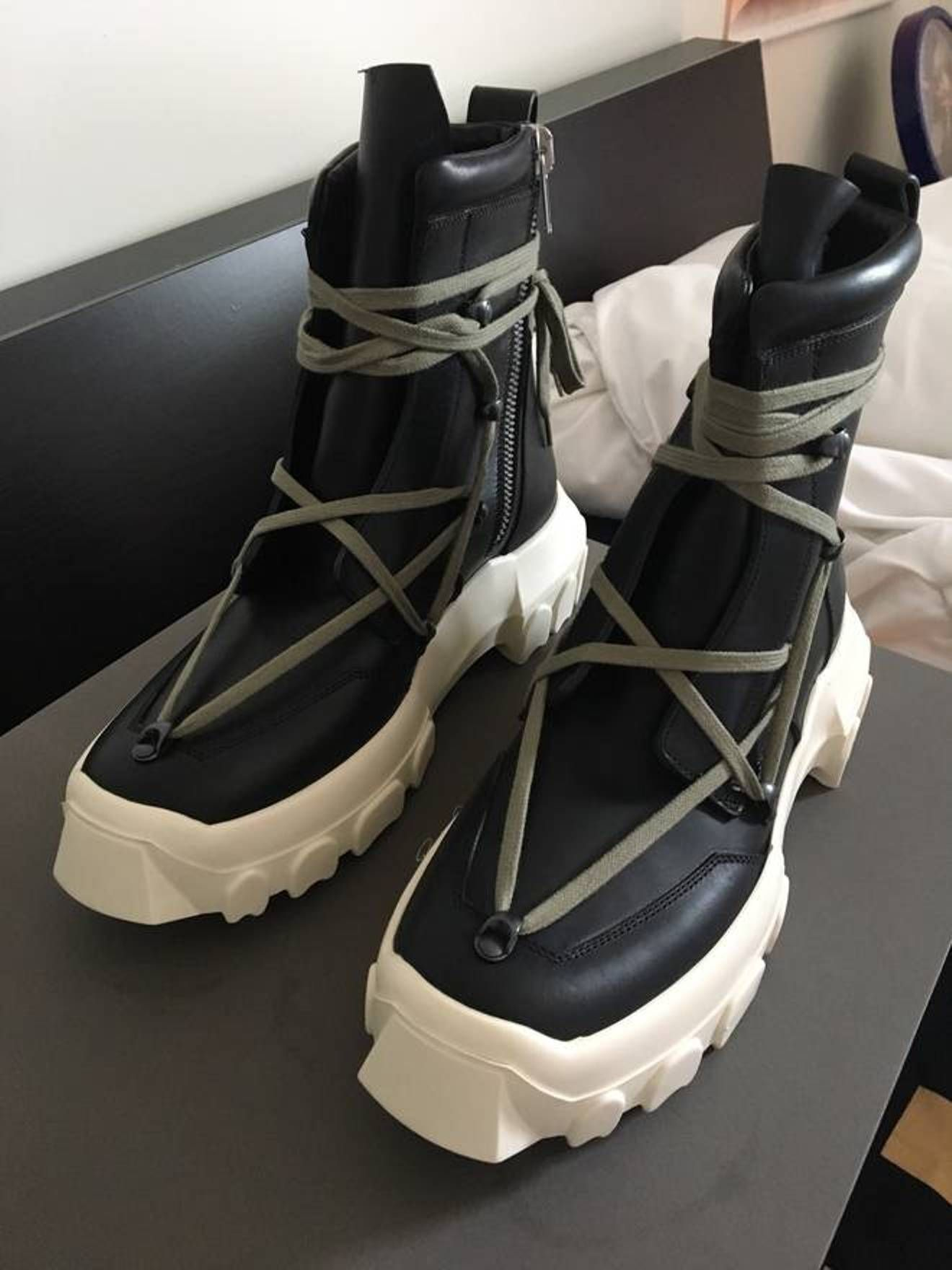 80011bfbb02 Rick Owens Dirt Hiking Boots Size US 9 / EU 42 | ss 18 in 2019 ...