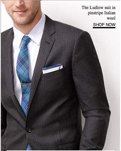 Crisp White Shirt Periwinkle Purple Tie With Charcoal Pinstripe Suit
