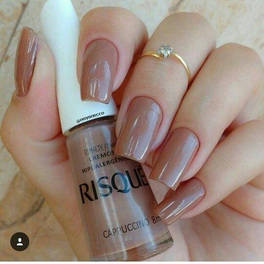 Esmalte Risque Cappucino Nails Pinterest