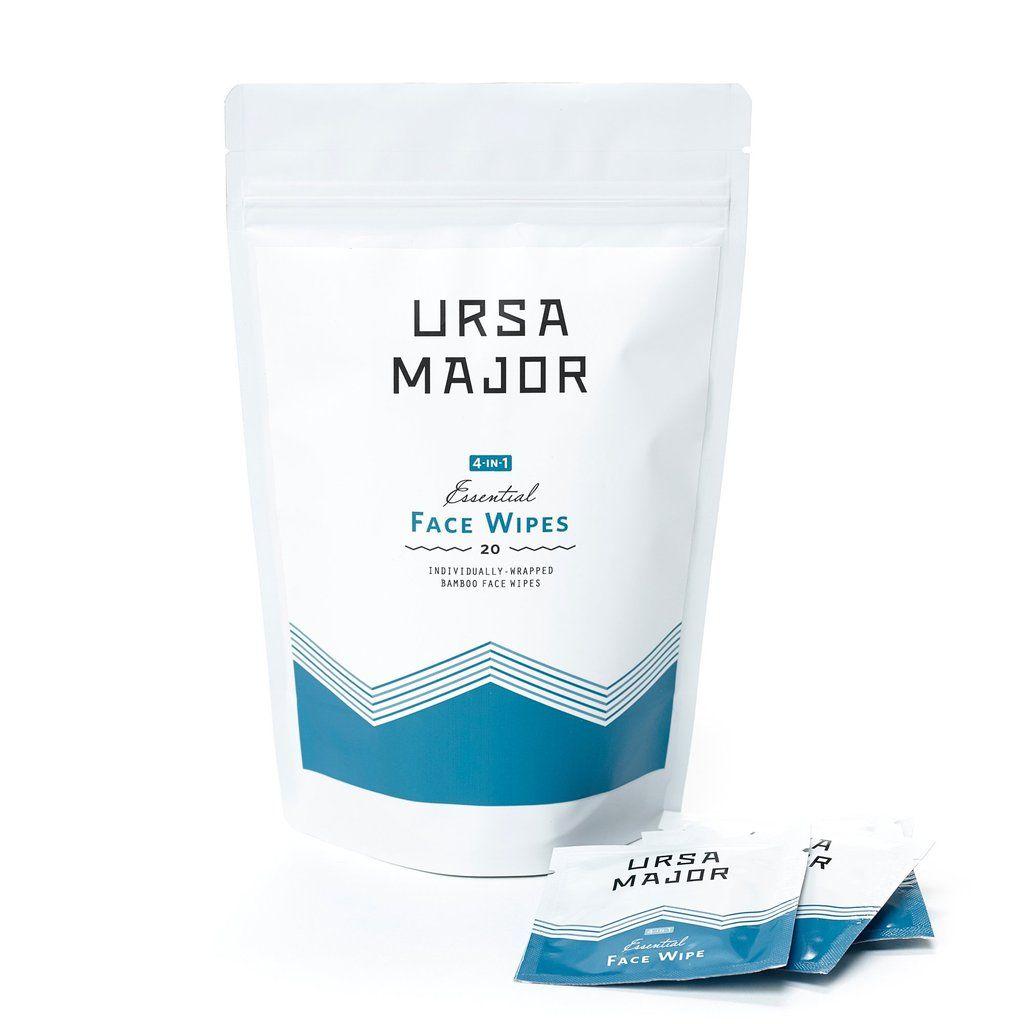 Essential face wipes ursa major natural skin care
