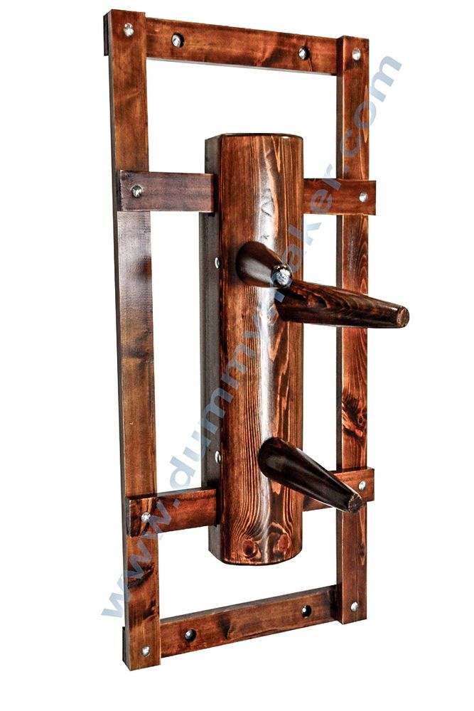 Wing Chun Wooden Dummy Closed Base Walnut Color
