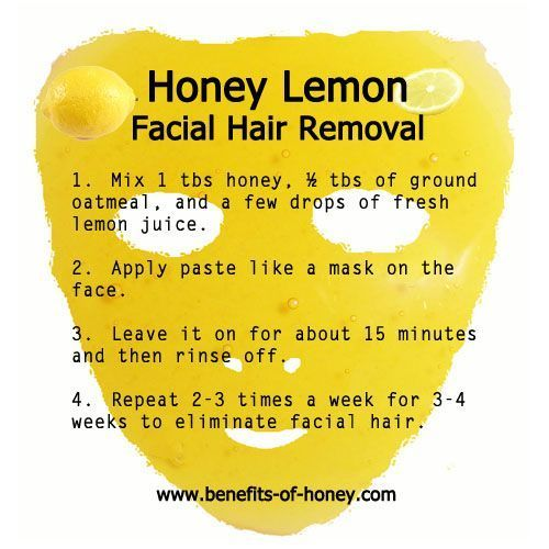 Honey Lemon Mask For Facial Hair Removal  Not certain this would really work e Honey Lemon Mask For Facial Hair Removal  Not certain this would really work e