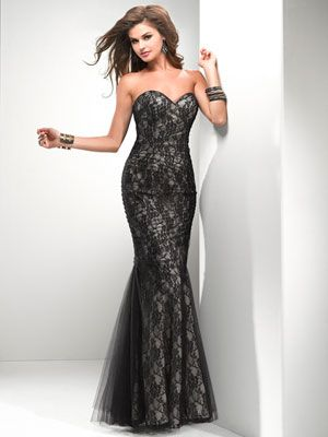 omg, as a prom dress - long full length, black lace! black lace prom ...