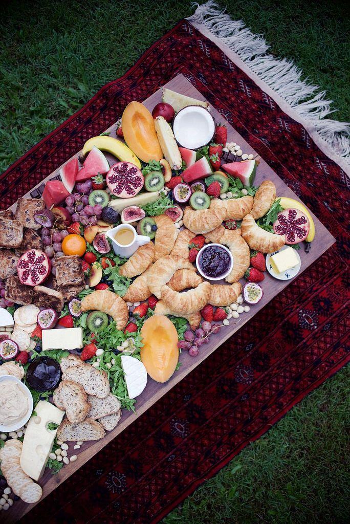 An Easy And Impressive Brunch Table Platter Breakfast